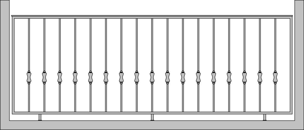 Кованые ограждения балкона цена.
