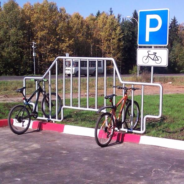 Стоянка для велосипедов своими руками 12