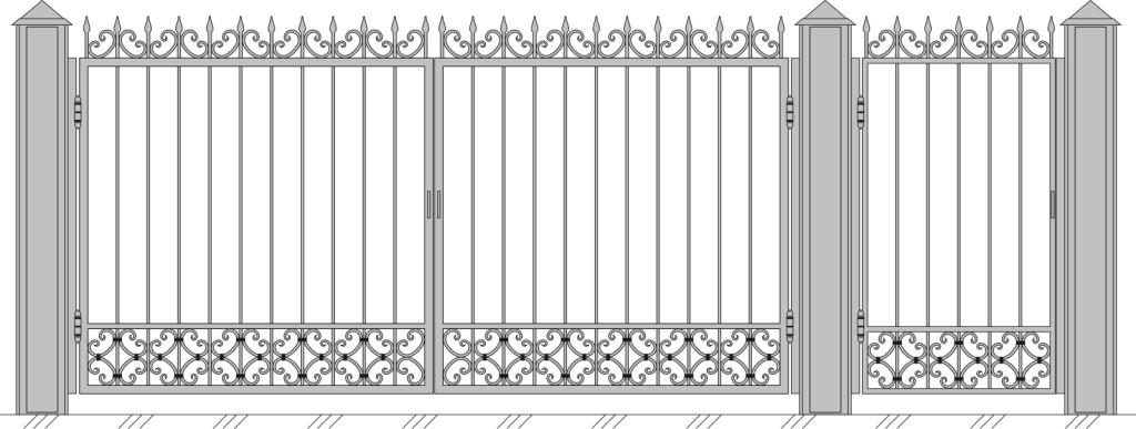 Ворота с калиткой москва привода на ворота фото